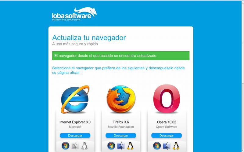 Actualiza tu navegador