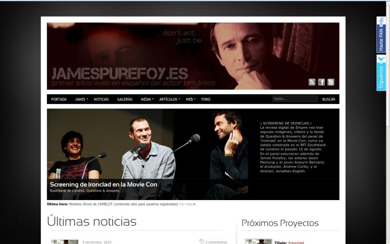 Web jamespurefoy.es